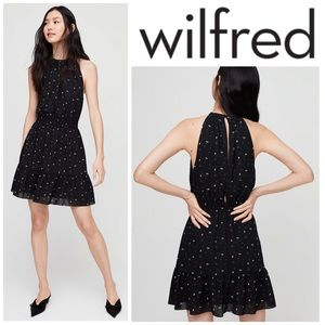 Aritzia Wilfred Effet Dress Mini Dress - Black Oak